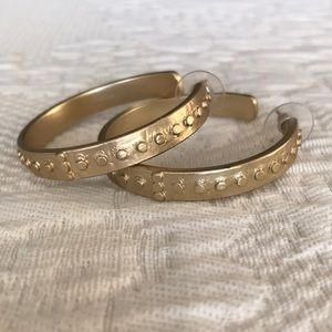 Chico's Gold Studded Hoops EUC